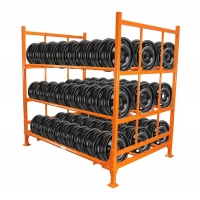3 Storaging Layers Stacking Racks for Rim & Utility Tire