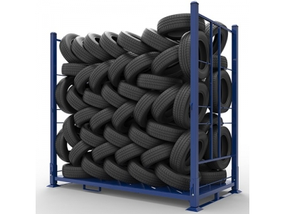 Foldalbe Tire Stacking Racks for Car, Bus and Truck Tyres